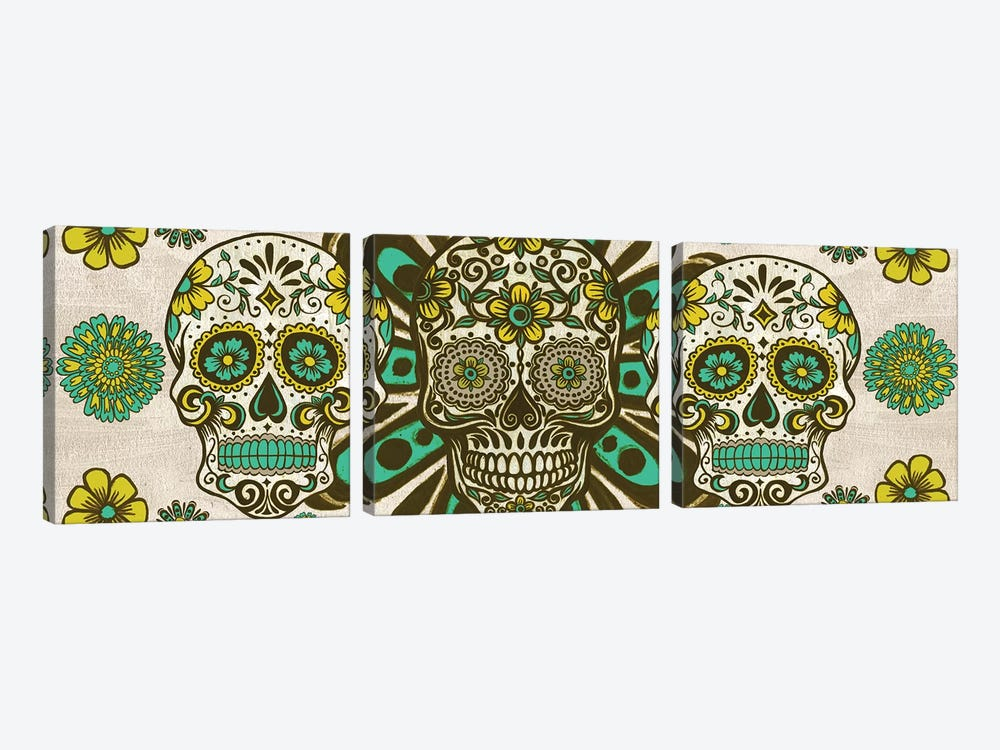 Dia de los Muertos Collection D by Melissa Wang 3-piece Art Print