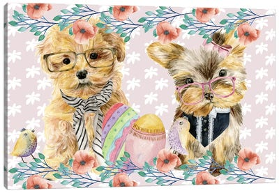 Easter Pups Collection A Canvas Art Print