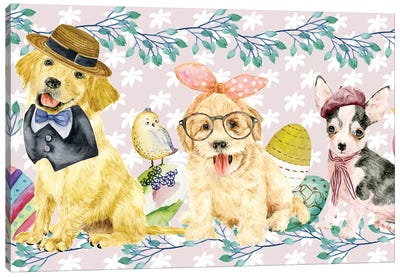 Easter Pups Collection D Canvas Art Print