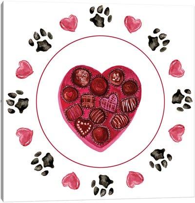 Puppy Valentine Collection C Canvas Art Print