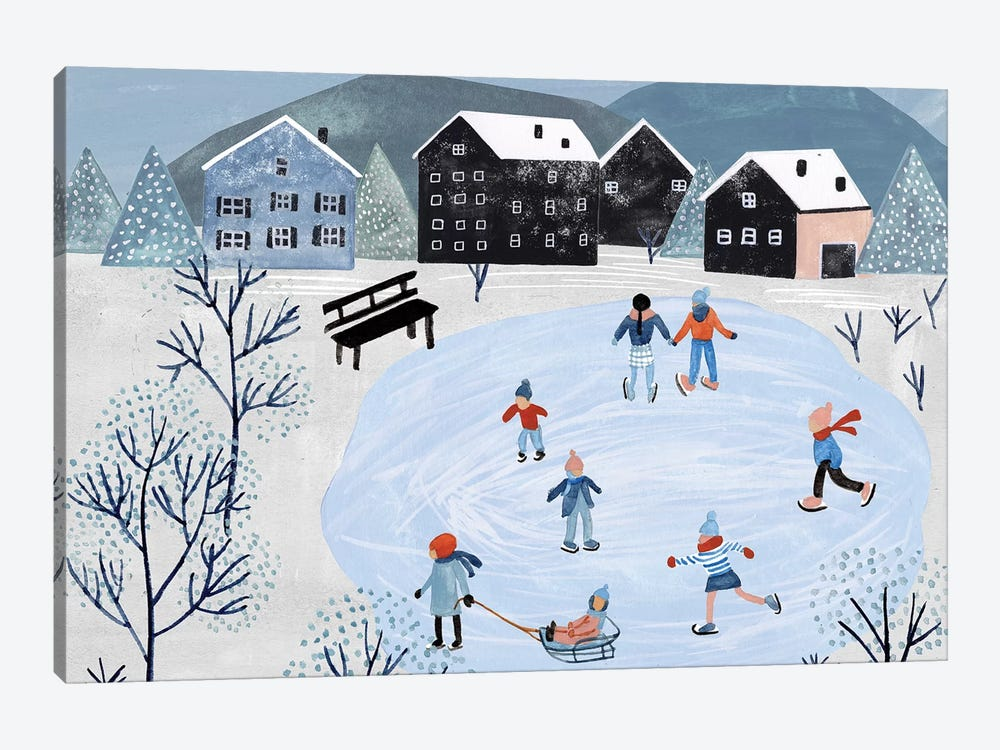 Snowy Village Collection A by Melissa Wang 1-piece Canvas Art Print