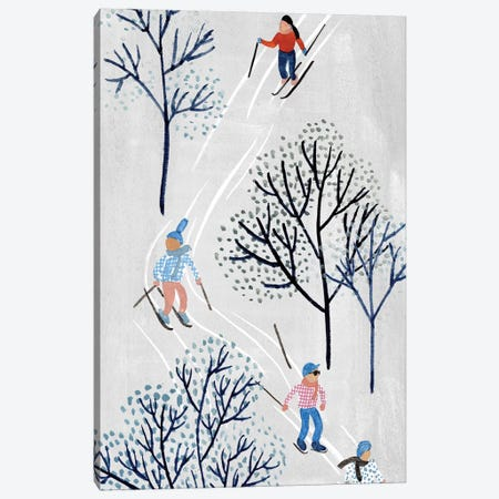Snowy Village Collection B Canvas Print #WNG802} by Melissa Wang Canvas Art