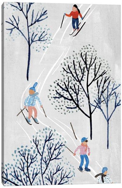 Snowy Village Collection B Canvas Art Print