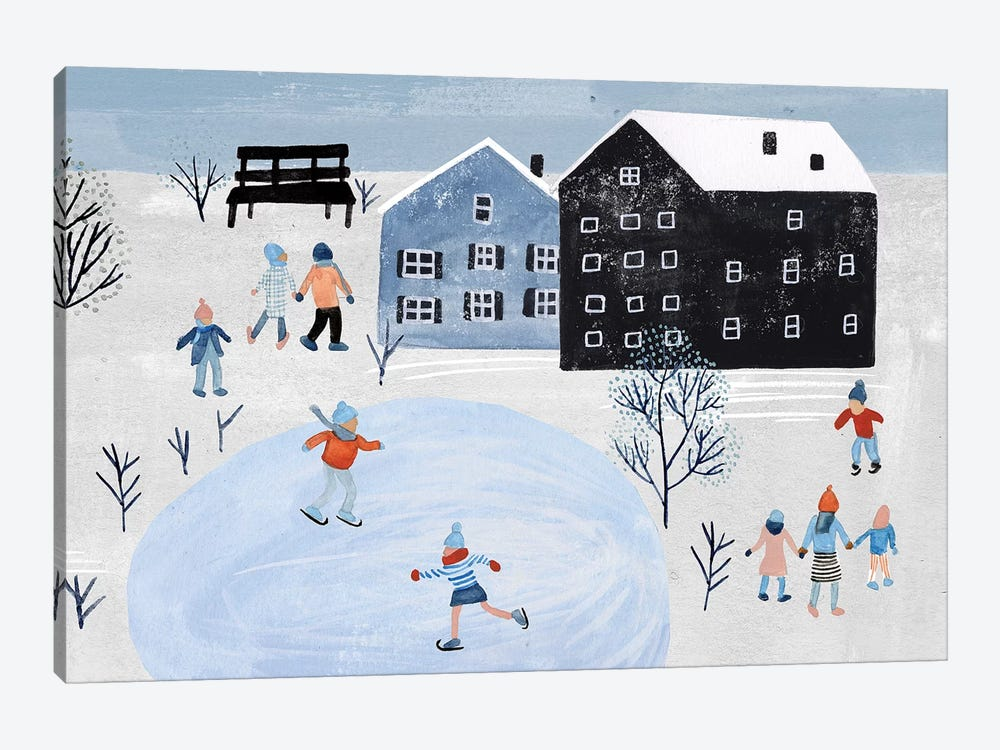 Snowy Village Collection D by Melissa Wang 1-piece Canvas Art Print