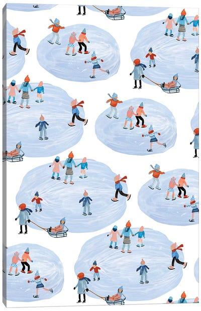 Snowy Village Collection E Canvas Art Print