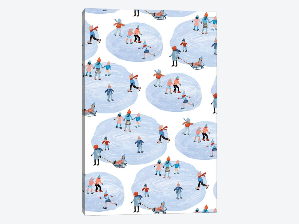 Snowy Village Collection E by Melissa Wang 1-piece Canvas Artwork