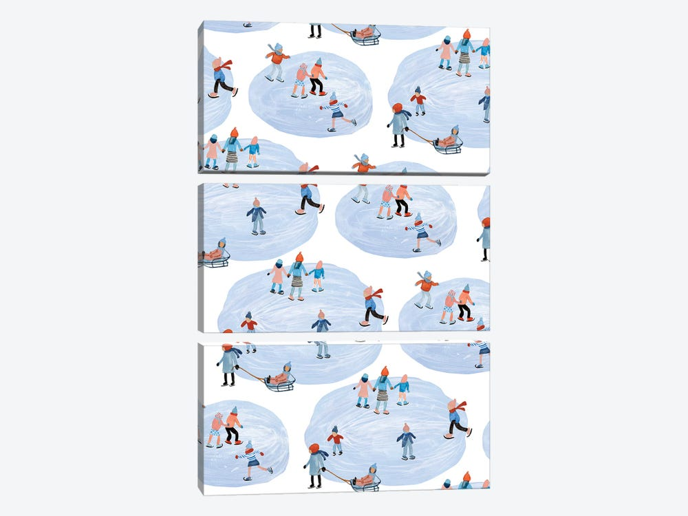 Snowy Village Collection E by Melissa Wang 3-piece Canvas Wall Art