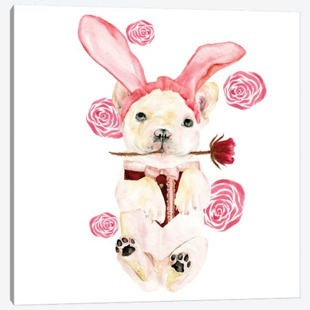 Valentine Puppy I Canvas Print #WNG806} by Melissa Wang Canvas Art Print