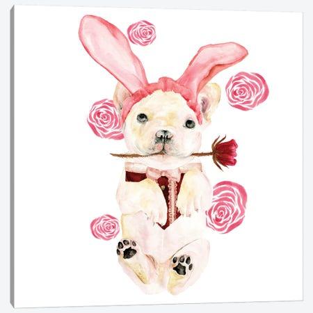 Valentine Puppy I Canvas Print #WNG806} by Melissa Wang Canvas Art Print