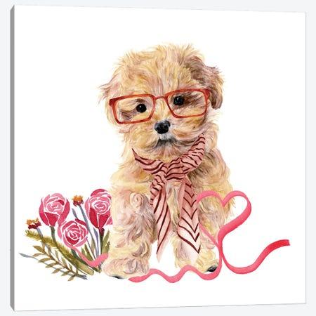 Valentine Puppy II Canvas Print #WNG807} by Melissa Wang Art Print