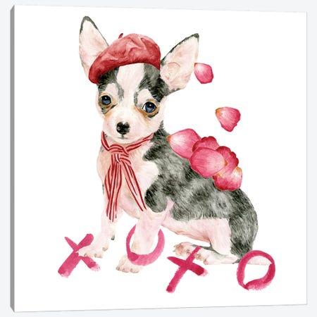 Valentine Puppy III Canvas Print #WNG808} by Melissa Wang Canvas Wall Art