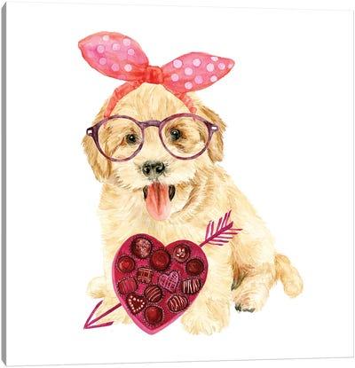 Valentine Puppy IV Canvas Art Print