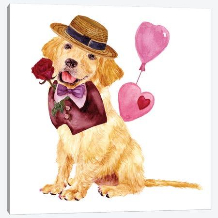 Valentine Puppy V Canvas Print #WNG810} by Melissa Wang Canvas Print