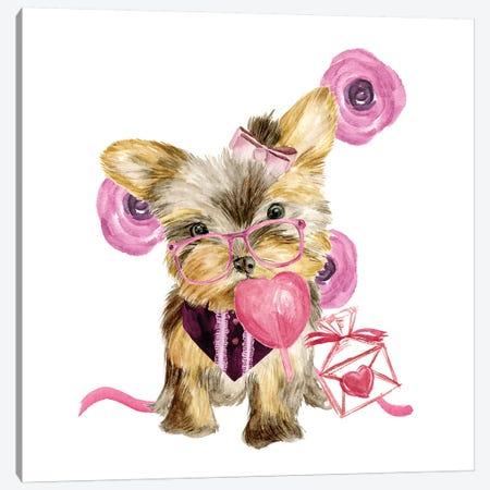 Valentine Puppy VI Canvas Print #WNG811} by Melissa Wang Art Print