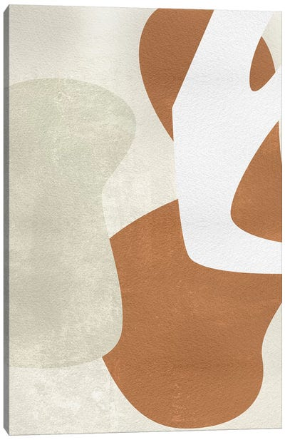 Beige Stucture I Canvas Art Print