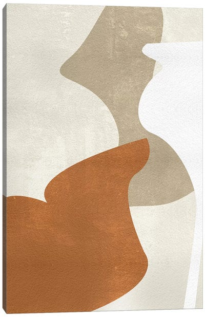 Beige Stucture III Canvas Art Print
