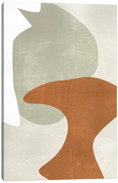 Beige Stucture IV Canvas Art Print