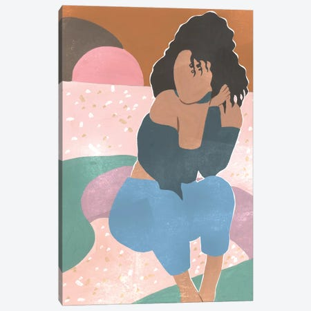 Curly Lady II Canvas Print #WNG839} by Melissa Wang Canvas Art Print
