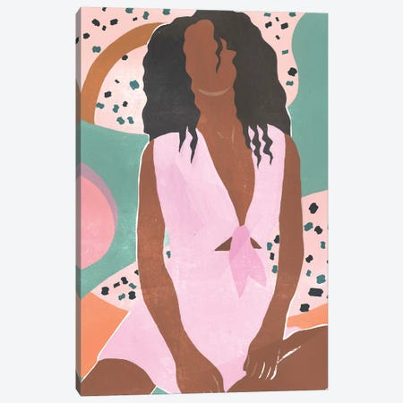 Curly Lady III Canvas Print #WNG840} by Melissa Wang Canvas Artwork