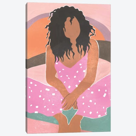 Curly Lady IV Canvas Print #WNG841} by Melissa Wang Canvas Wall Art