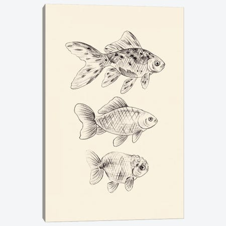 Goldfish I Canvas Print #WNG860} by Melissa Wang Canvas Wall Art