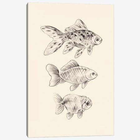 Goldfish I Canvas Print #WNG860} by Melissa Wang Canvas Wall Art