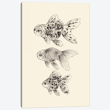 Goldfish II Canvas Print #WNG861} by Melissa Wang Canvas Wall Art