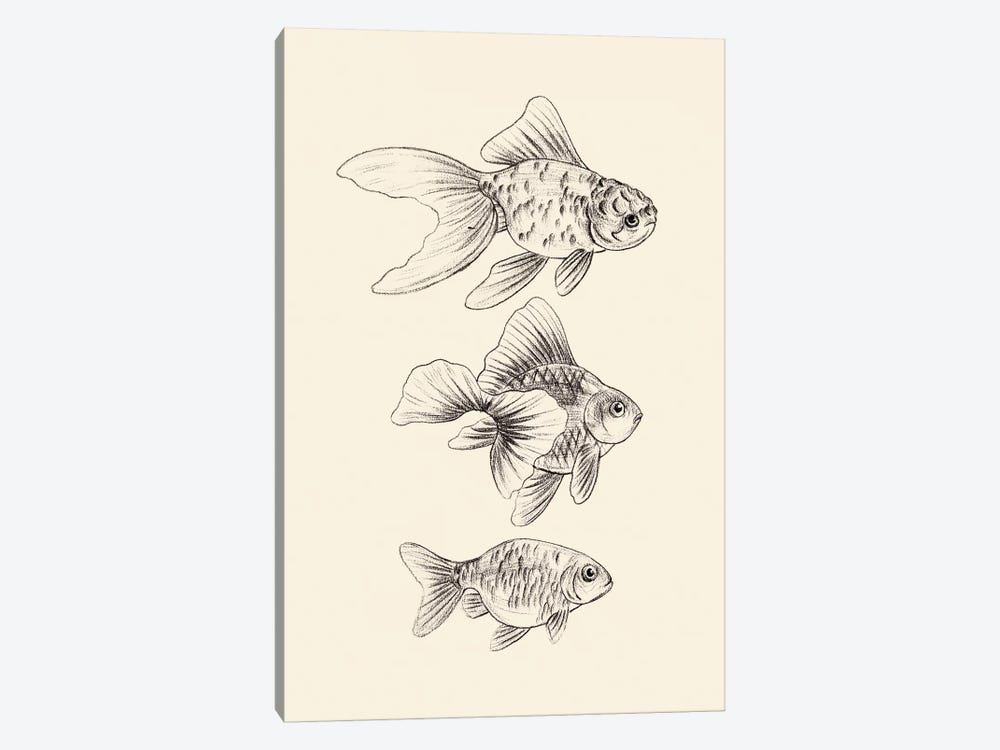 Goldfish III by Melissa Wang 1-piece Canvas Wall Art