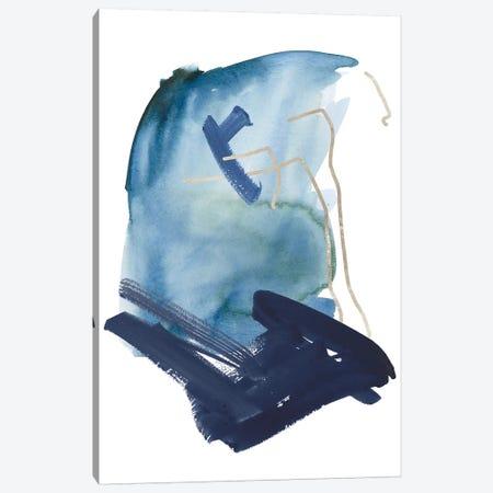 Indigo Collide IV Canvas Print #WNG882} by Melissa Wang Canvas Wall Art