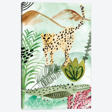 Jungle of Life I Canvas Print #WNG883} by Melissa Wang Canvas Art