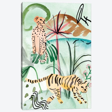 Jungle of Life II Canvas Print #WNG884} by Melissa Wang Canvas Print