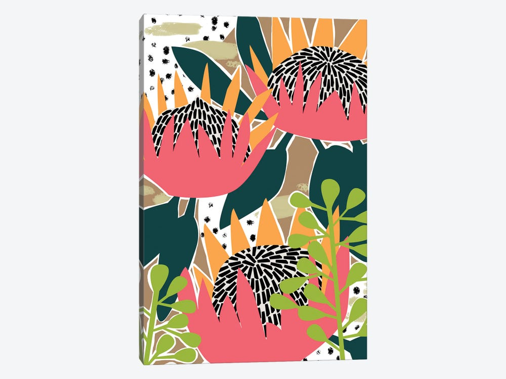 King Protea I by Melissa Wang 1-piece Art Print