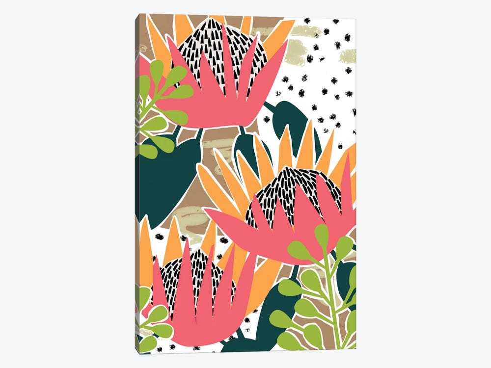 King Protea II by Melissa Wang 1-piece Canvas Artwork