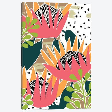 King Protea II Canvas Print #WNG886} by Melissa Wang Canvas Print