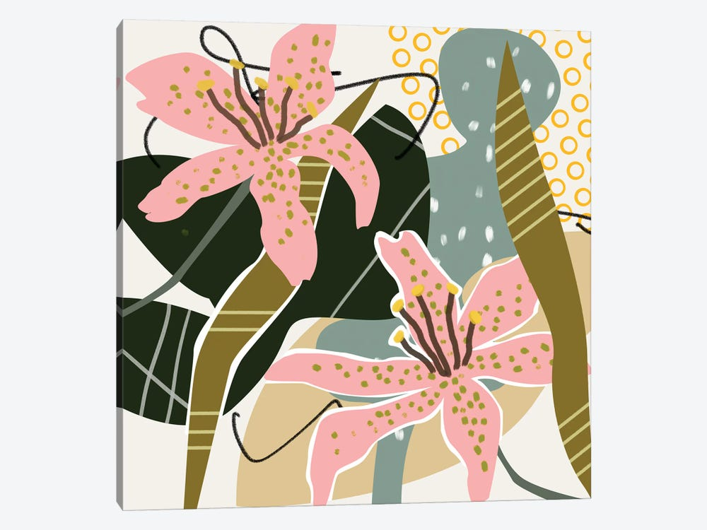 Lily Valley I by Melissa Wang 1-piece Canvas Artwork