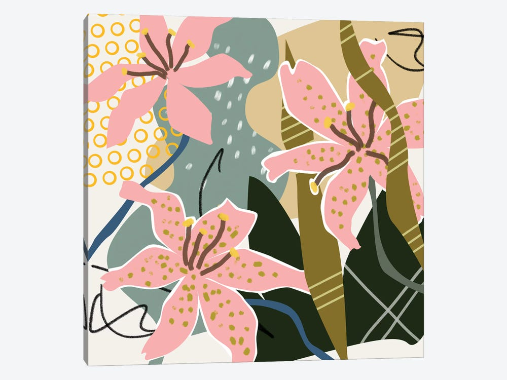 Lily Valley II by Melissa Wang 1-piece Canvas Art Print