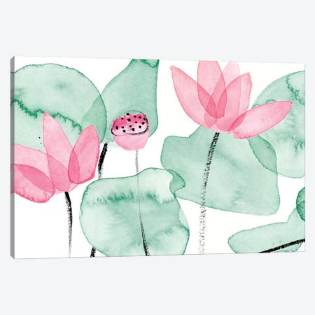 Lotus in Nature I Canvas Print #WNG893} by Melissa Wang Art Print