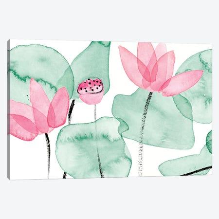 Lotus in Nature I Canvas Print #WNG893} by Melissa Wang Art Print