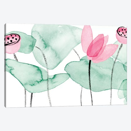 Lotus in Nature II Canvas Print #WNG894} by Melissa Wang Canvas Artwork