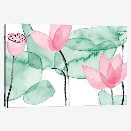 Lotus in Nature III Canvas Print #WNG895} by Melissa Wang Canvas Art