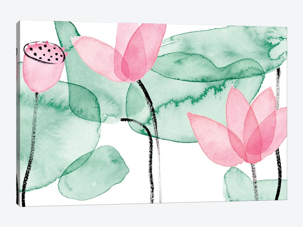 Lotus in Nature III by Melissa Wang 1-piece Canvas Artwork