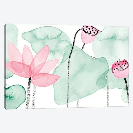 Lotus in Nature IV 3-Piece Canvas #WNG896} by Melissa Wang Canvas Artwork