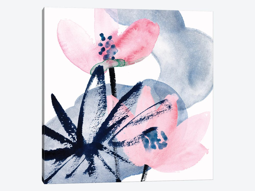 Pink Water Lilies I by Melissa Wang 1-piece Canvas Art Print