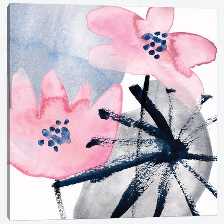 Pink Water Lilies III Canvas Print #WNG917} by Melissa Wang Art Print
