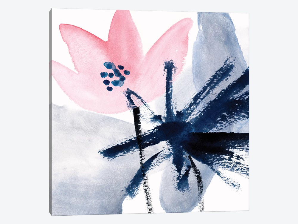 Pink Water Lilies IV by Melissa Wang 1-piece Canvas Wall Art