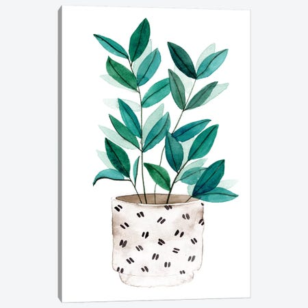 Plant in a Pot I Canvas Print #WNG919} by Melissa Wang Canvas Artwork