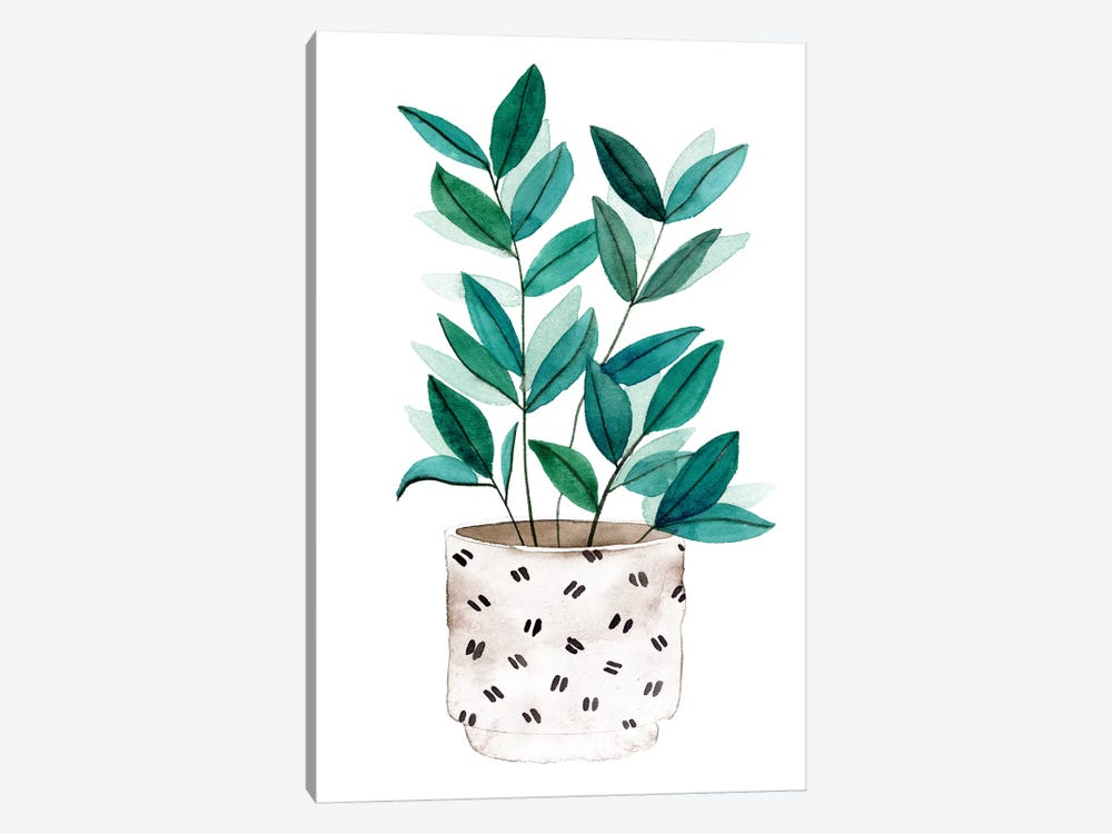Plant in a Pot I by Melissa Wang 1-piece Canvas Print