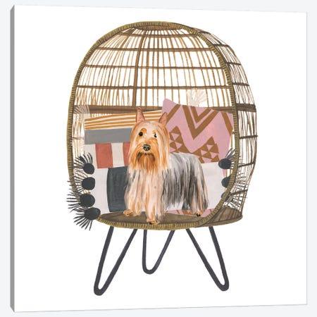 Pom Pom Pup I Canvas Print #WNG923} by Melissa Wang Art Print
