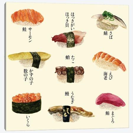 Sushi I Canvas Print #WNG94} by Melissa Wang Art Print