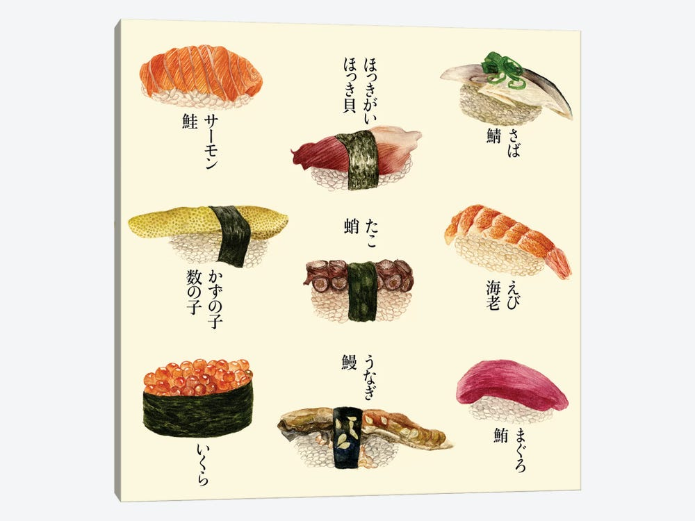 Sushi I by Melissa Wang 1-piece Art Print